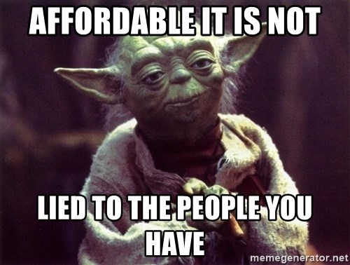 Yoda - Affordable it is not lied to the people you have