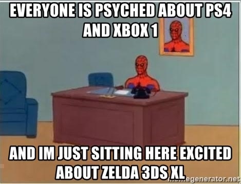 Spiderman Desk - Everyone is psyched about ps4 and xbox 1 and im just sitting here excited about zelda 3ds xl