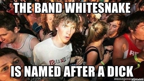 -Sudden Clarity Clarence - The Band whitesnake is named after a dick