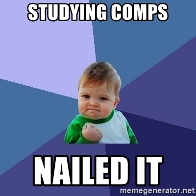 Success Kid - Studying comps NAILed IT
