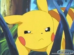 Unimpressed Pikachu -