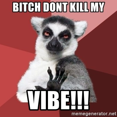 Chill Out Lemur - bitch dont kill my vibe!!!