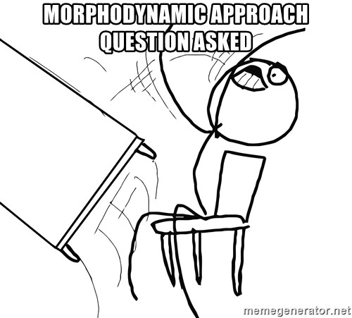Desk Flip Rage Guy - Morphodynamic approach question asked