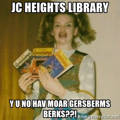 Goosebumps Girl Sings - JC Heights Library  Y u no hav moar gersberms berks??!