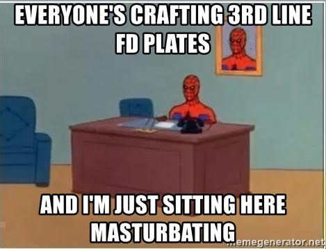 Spiderman Desk - everyone's crafting 3rd line fd plates and i'm just sitting here masturbating