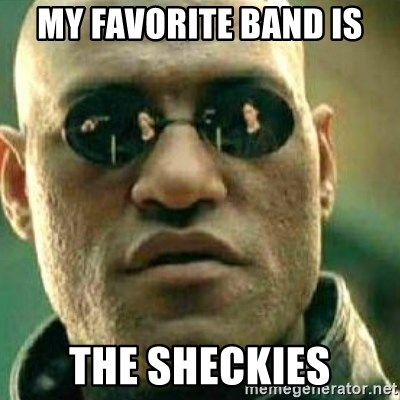 What If I Told You - My favorite band is The Sheckies