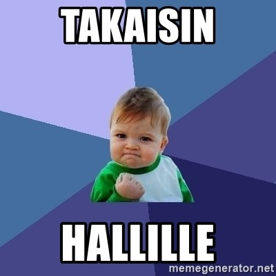 Success Kid - Takaisin Hallille