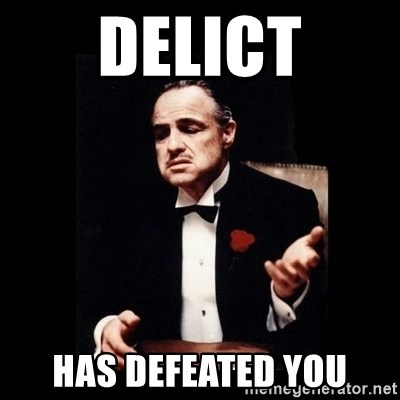 The Godfather - DELICT HAS DEFEATED YOU