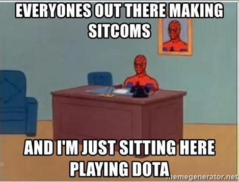 Spiderman Desk - Everyones out there making sitcoms  And I'm just sitting here playing dota