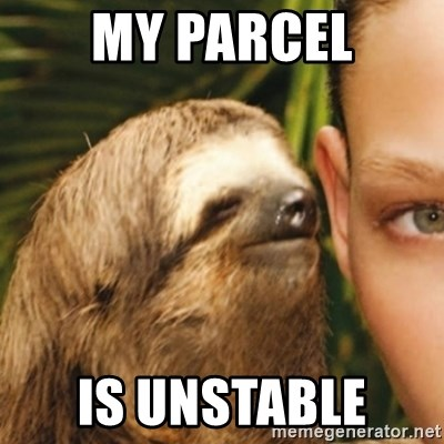 Whispering sloth - My parcel Is unstable