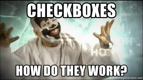 Insane Clown Posse - checkboxes how do they work?