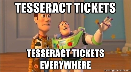 Consequences Toy Story - Tesseract tickets Tesseract tickets everywhere