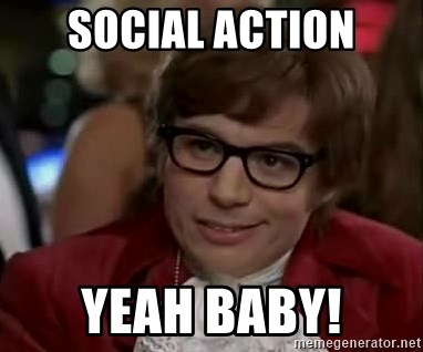 Austin Power - social action yeah baby!