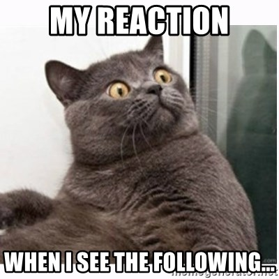 Conspiracy cat - my reaction when i see the following...