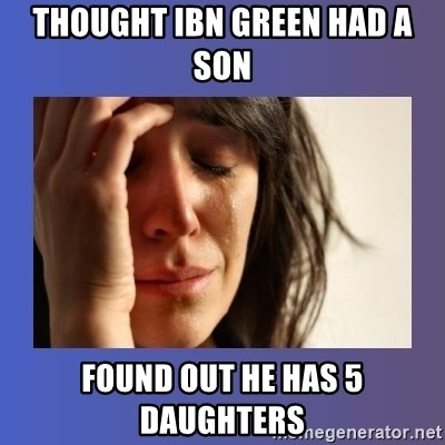 woman crying - Thought IBN Green had a son Found out he has 5 daughters