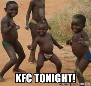 african children dancing -  kfc tonight!