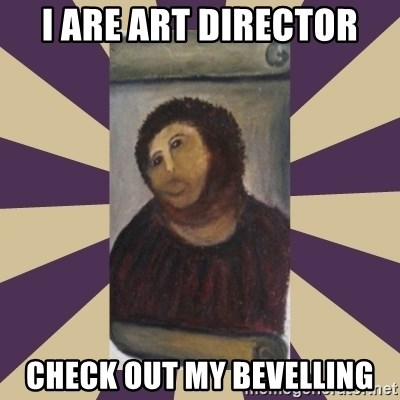 Retouched Ecce Homo - I ARE ART DIrector Check out my Bevelling