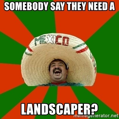 Successful Mexican - somebody say they need a landscaper?