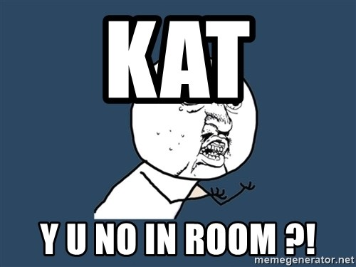 Y U No - KAT Y U NO IN ROOM ?!