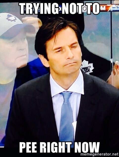 Dallas Eakins - Trying not to PEE right now