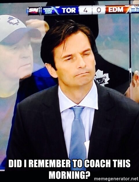 Dallas Eakins -  Did I remember to coach this morning?