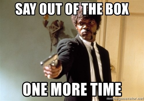 Samuel L Jackson - Say Out of the box One more time