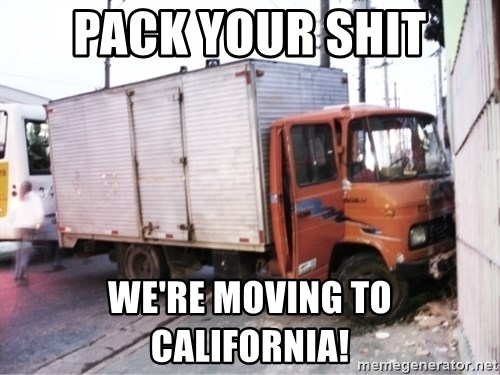 Yeezus Truck - Pack your shit We're moving to CaLifornia!