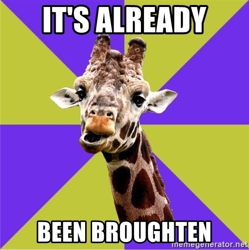 Photoshop Artist Giraffe - It's already BEEN BROUGHTen