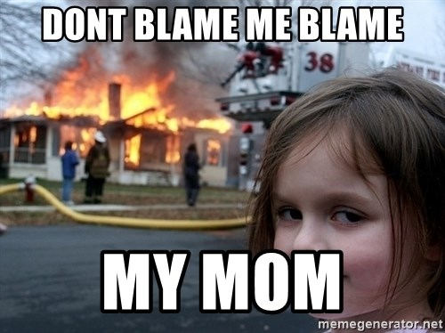 Disaster Girl - dont blame me blame my mom