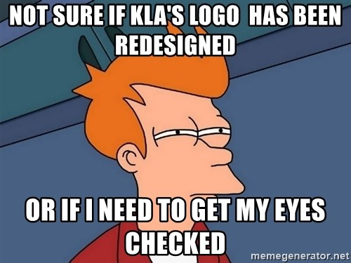Futurama Fry - not sure if kla's logo  has been redesigned or if i need to get my eyes checked