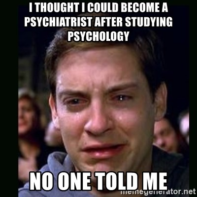 crying peter parker - I thought I could become a psychiatrist after studying psychology No one told me