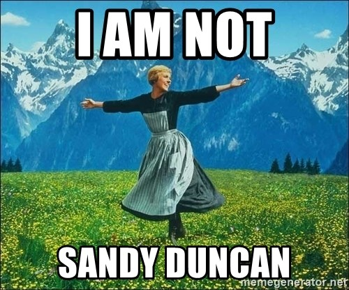 Look at all the things - i am not sandy duncan