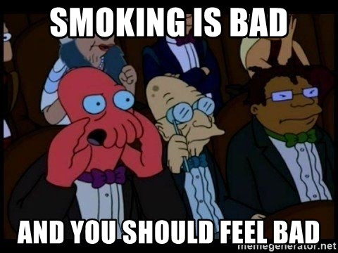 Zoidberg - Smoking is bad and you should feel bad