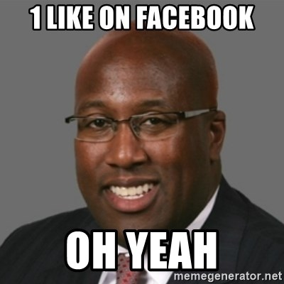 mikebrown1 - 1 like on facebook oh yeah