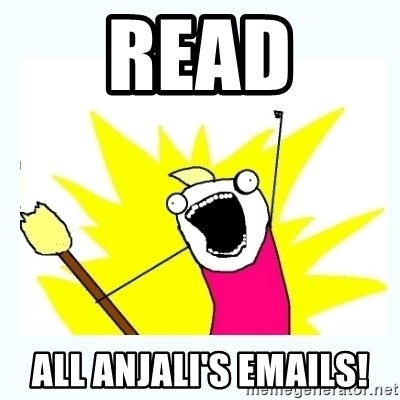 All the things - READ ALL ANJALI'S EMAILS!