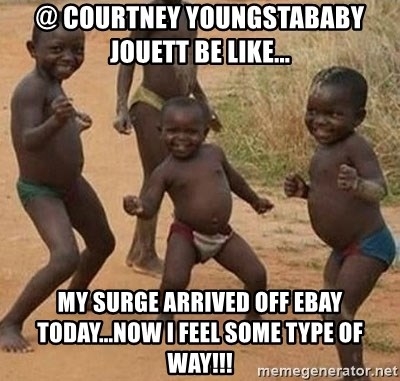 Dancing African Kid - @ Courtney YOungstababy Jouett be like... my surge arrived off ebay today...now i feel some type of way!!!