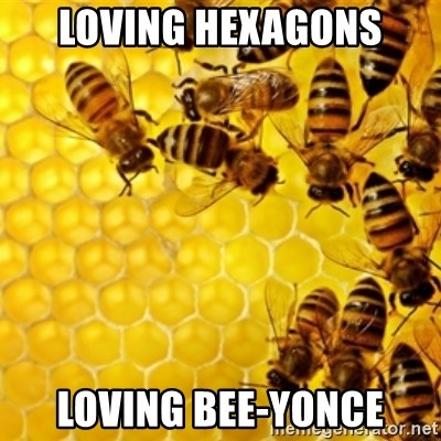 Honeybees - Loving Hexagons Loving Bee-yonce