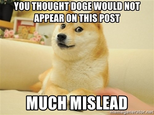 so doge - You thought doge would not appear on this post much mislead