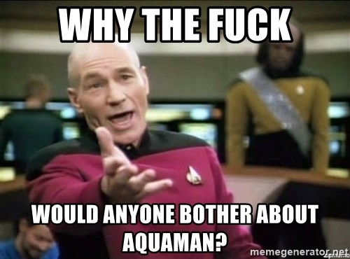 Why the fuck - why the fuck would anyone bother about aquaman?