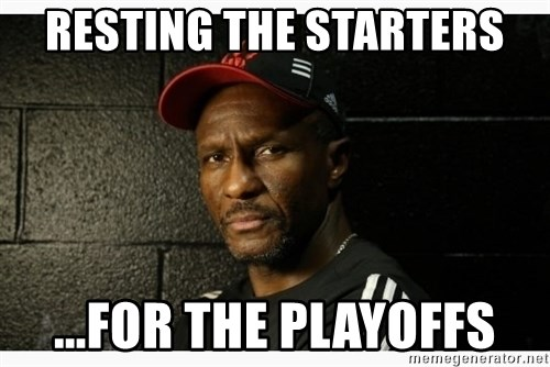 Dwane Casey's Guide to Smallball - RESTING THE STARTERS ...for the playoffs