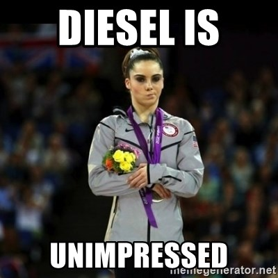 Unimpressed McKayla Maroney - diesel is unimpressed