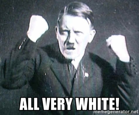 Successful Hitler -  ALL very white!