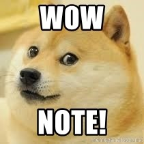 dogeee - wow note!