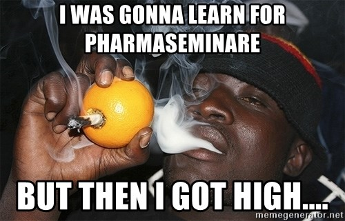 Que se yo estoy re loco - I wAS gonna learn for pharmaseminare But then i got high....