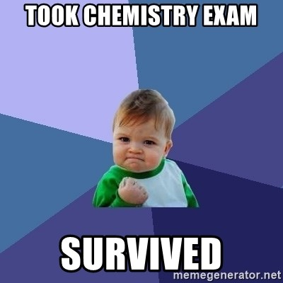 Success Kid - took chemistry exam survived