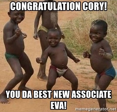 Dancing African Kid - Congratulation Cory! You DA BESt NEW ASSOCIATE EVA!