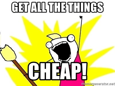 X ALL THE THINGS - Get all the things cheap!