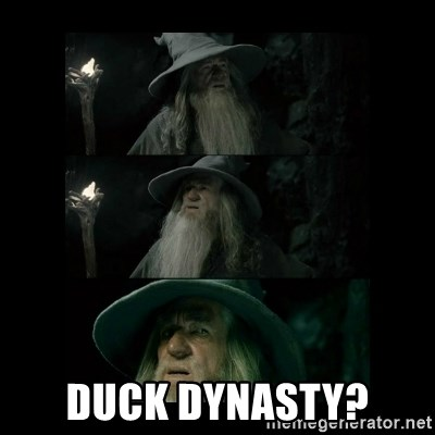 Confused Gandalf -  Duck Dynasty?