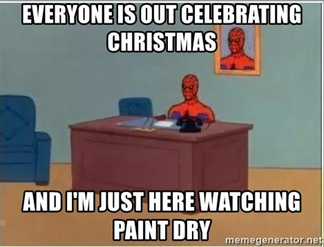 Spiderman Desk - Everyone is out celebrating christmas  and i'm just here watching paint dry