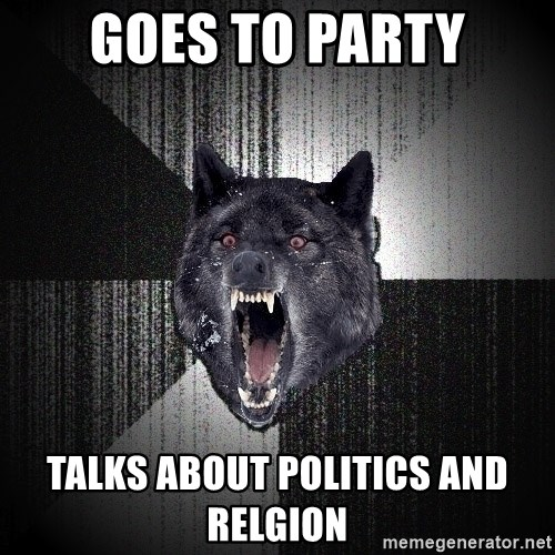 Insanity Wolf - Goes to party talks about politics and relgion
